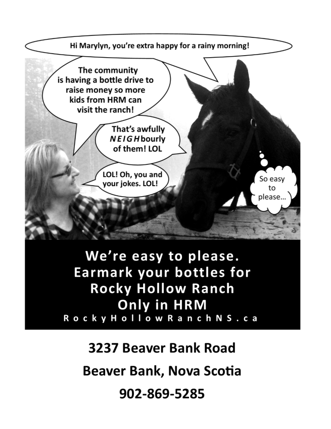 Ad for bottle drive with address portrait
